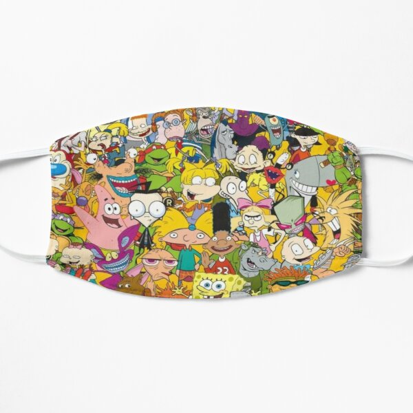 90s Cartoons Flat Mask