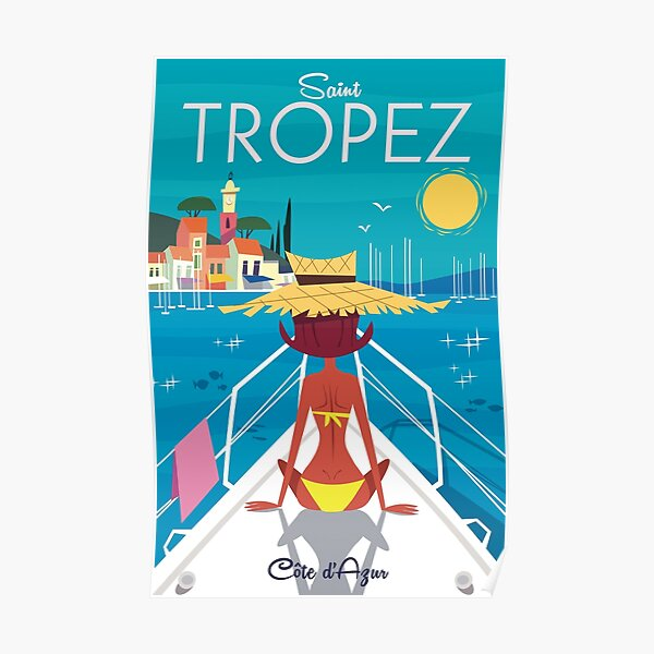 St Tropez poster Poster