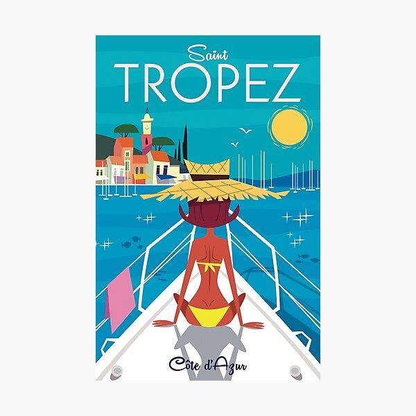 St Tropez poster Photographic Print