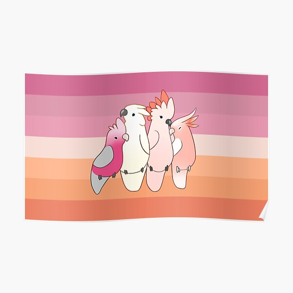 Birdy Lesbian Pride Flag Poster