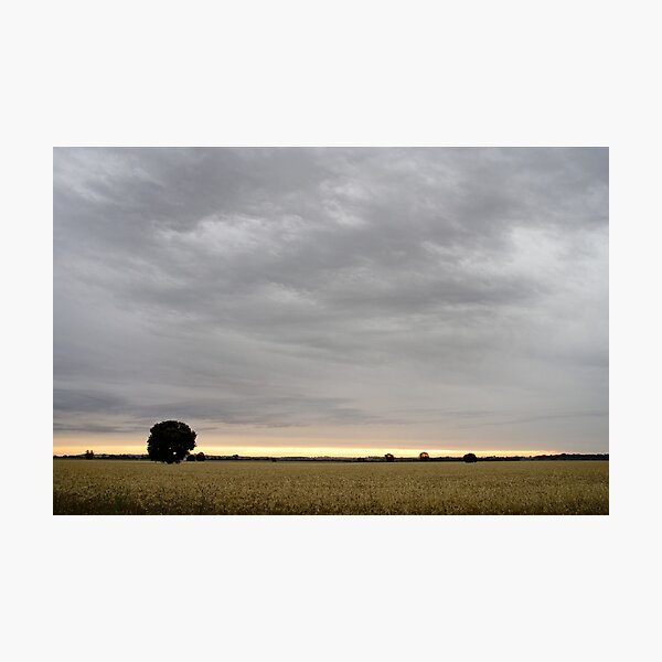 Last light of Sunset - Parkes - NSW - Australia Photographic Print