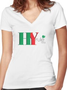Hy.Rule Tea Women's Fitted V-Neck T-Shirt
