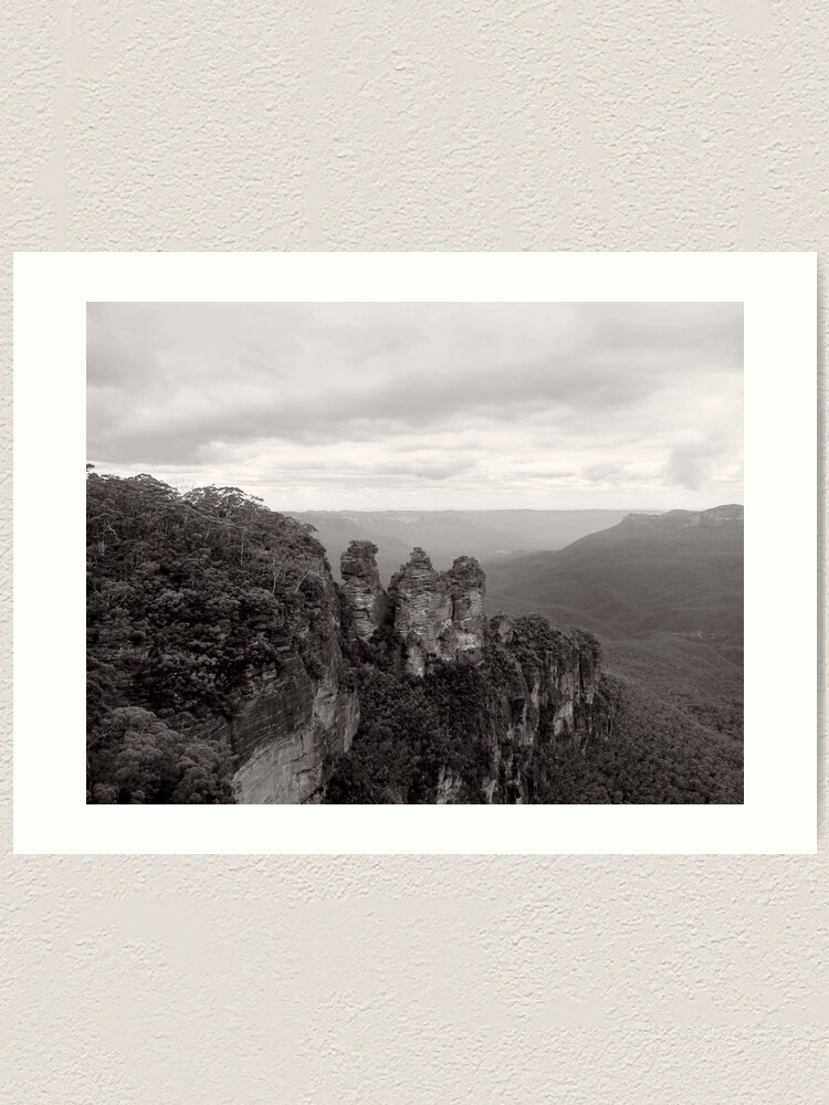 Alternate view of The Three Sisters - NSW - Australia Art Print