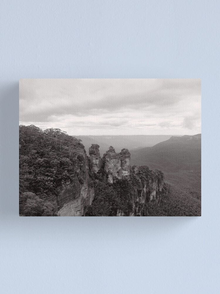 Alternate view of The Three Sisters - NSW - Australia Canvas Print