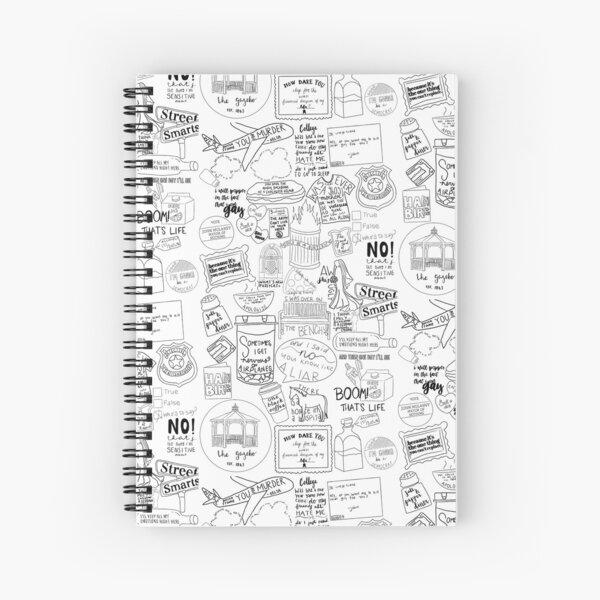 John Mulaney Doodle Design Cuaderno de espiral