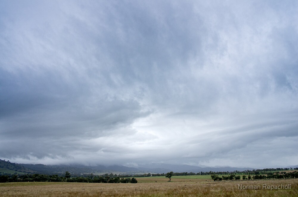 Storm over Tamworth - NSW - Australia by Norman Repacholi