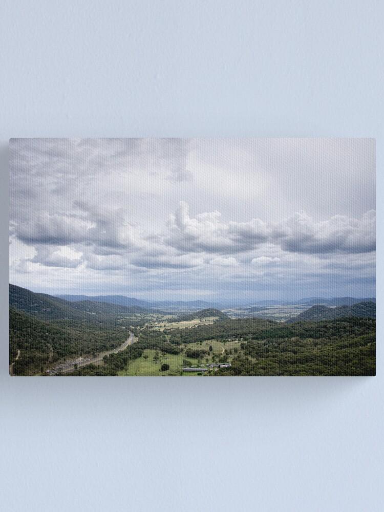 Alternate view of Clouds over Moonbi - NSW - Australia Canvas Print