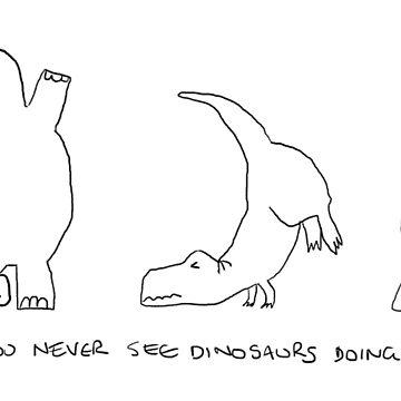 Dinosaur handstands by hannahsmetana