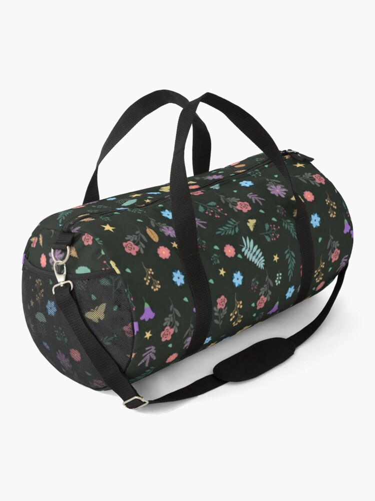 Alternate view of Midnight Blue Blossoming Floral Pattern Duffle Bag