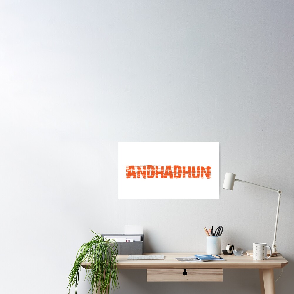 Andhadhun Bollywood Movie Title Poster By Innabbz Redbubble