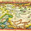 1574 Ruscelli Map of Russia (Muscovy) and Ukraine Geographicus Moschovia porcacchi 1572 by MotionAge Media