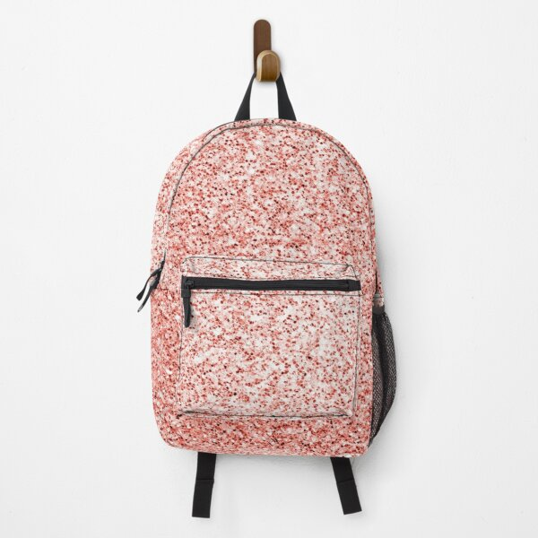 Living coral light glitter sparkles Backpack