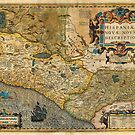 1606 Hondius_and Mercator Map of Mexico Geographicus HispaniaeNovaMexico mercator 1606 by MotionAge Media