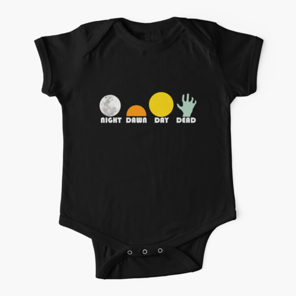 The Dead Trilogy 1968-1985 white print Short Sleeve Baby One-Piece