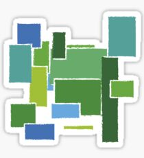 green blocks Sticker