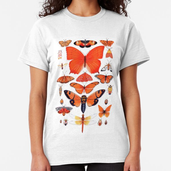 Orange Insect Collection Classic T-Shirt