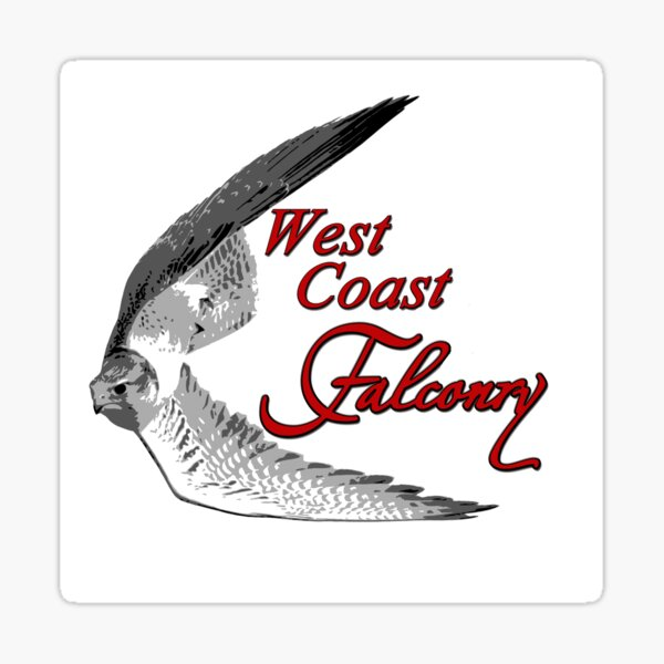 West Coast Falconry Sticker