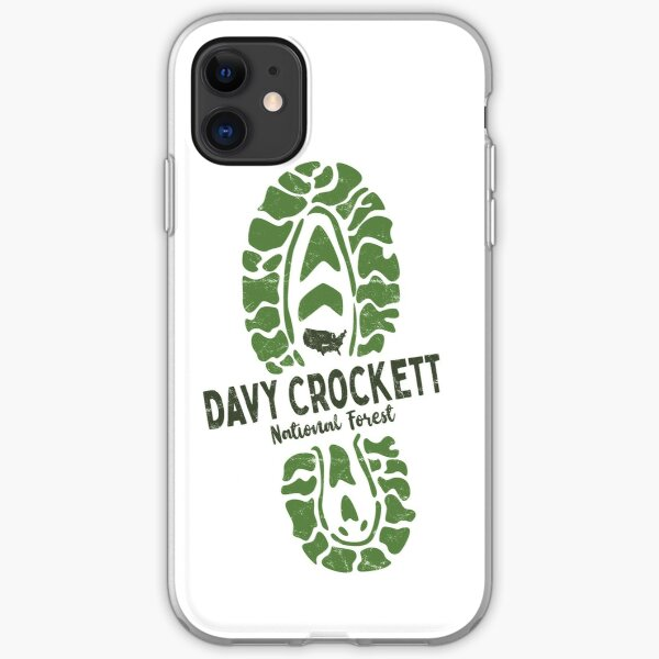 Davy Crockett National Forest - Texas Hiking Boot US National Parks iPhone Soft Case