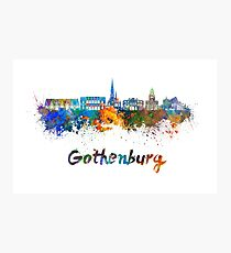 Gothenburg skyline in watercolor Photographic Print