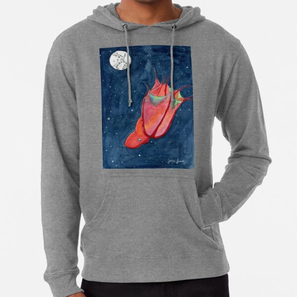 Vampire Squid in Space Lightweight Hoodie