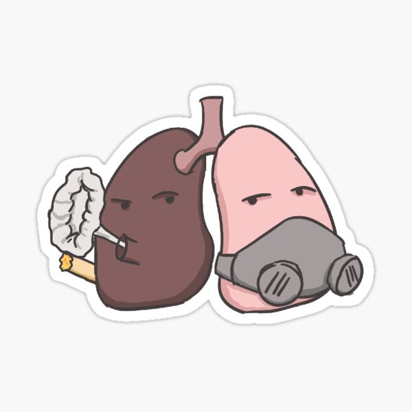 Unhealthy Organs: Suffocated Lungs Sticker