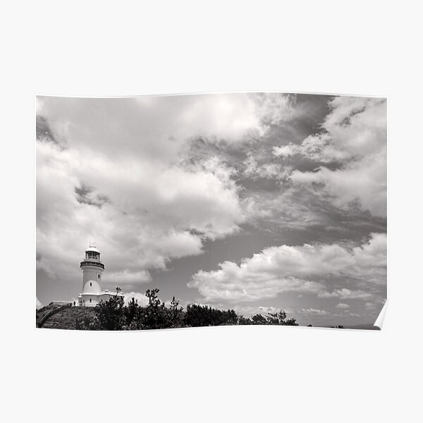 Lighthouse in the Clouds - NSW - Australia Poster