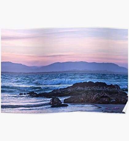 A Pastel Pink Sunset Poster