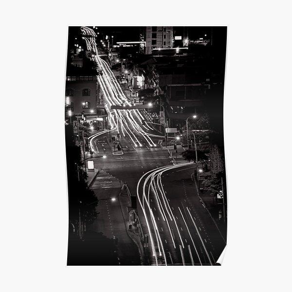 Traces of night - Brisbane - QLD - Australia Poster