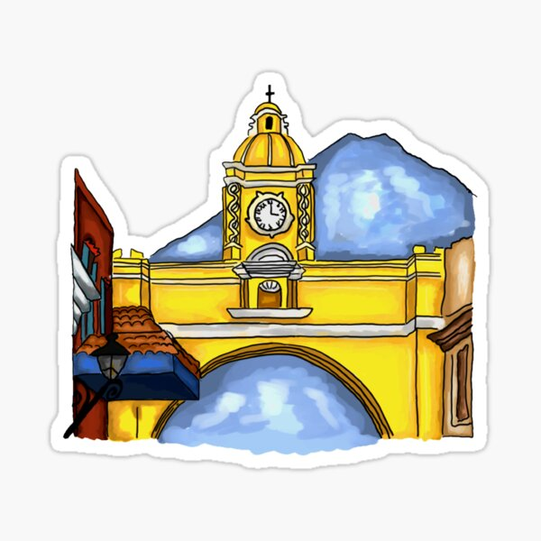 Antigua Guatemala Pegatina
