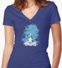First Snow Women's Fitted V-Neck T-Shirt