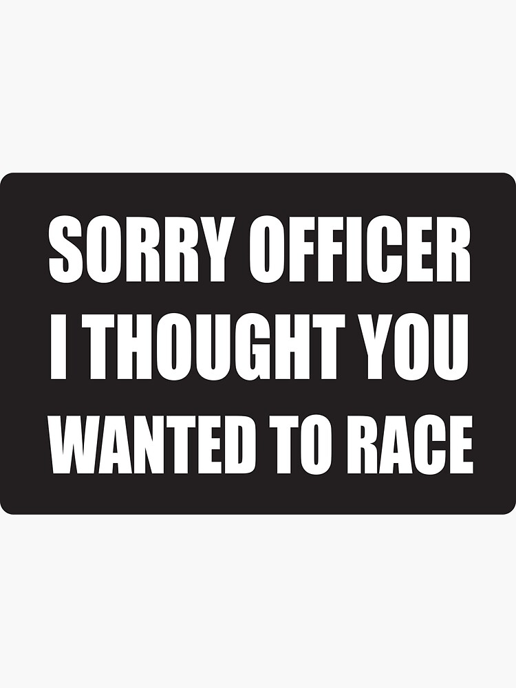 Funny Police Officer - Cool Motorcycle Or Funny Helmet Stickers And Bikers Gifts by Bikerstickers