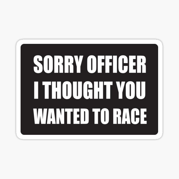 Funny Police Officer - Cool Motorcycle Or Funny Helmet Stickers And Bikers Gifts Sticker