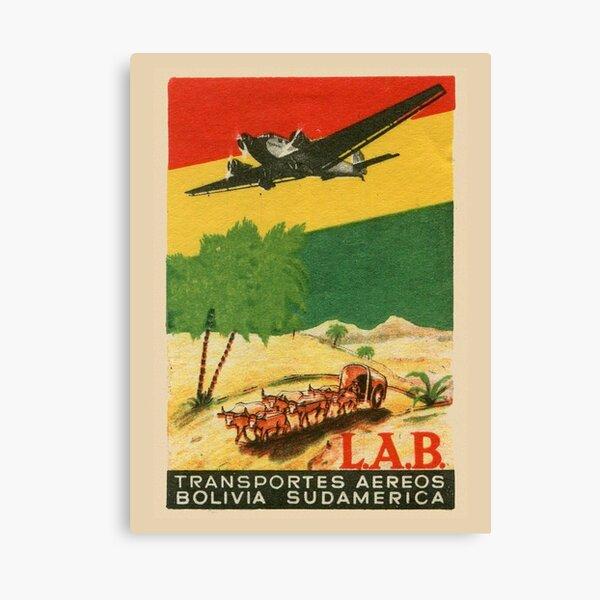 LAB - Transportes Aereos Bolivia Sudamerica Canvas Print