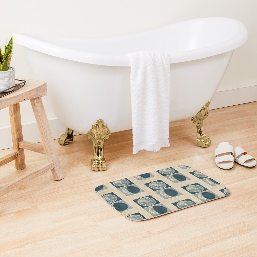 Full And Crescent Moon Bath Mat