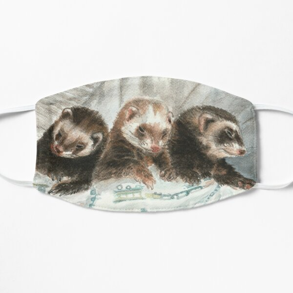 Lovely ferrets Mascarilla