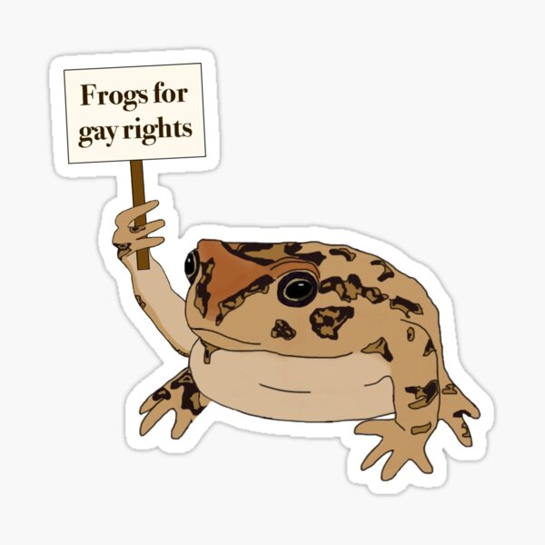 Gay rights frog Sticker