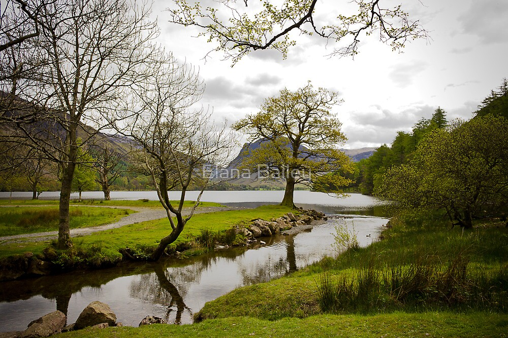 Reflections of Lake Buttermere, Lake District, United Kingdom by Elana Bailey