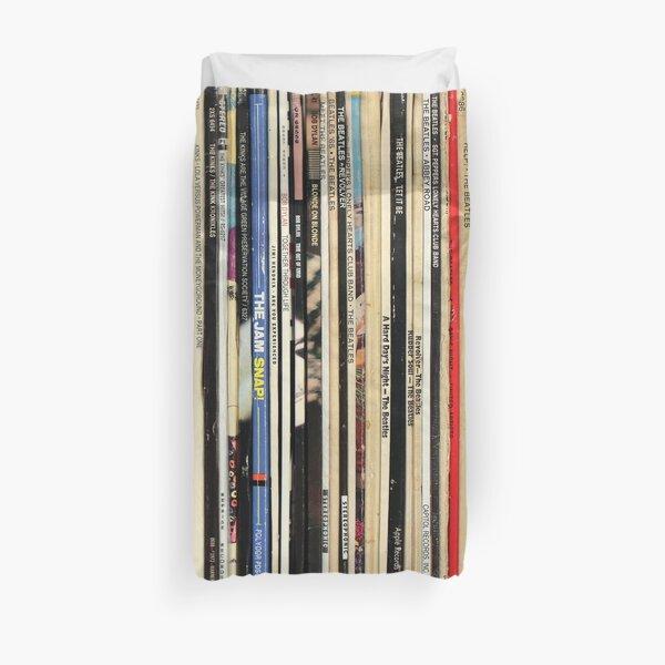 Classic Rock Vinyl Records  Duvet Cover