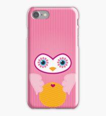 IPhone :: cute owl face - pink iPhone Case/Skin
