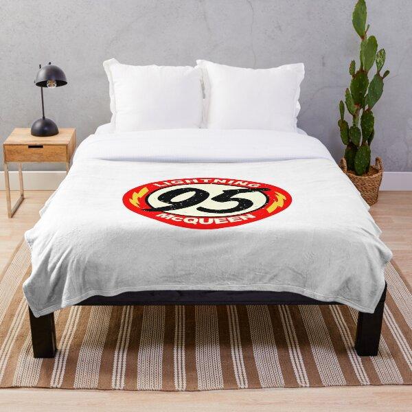 Lightning McQueen symbol number sticker, shirt, mask, ... Throw Blanket