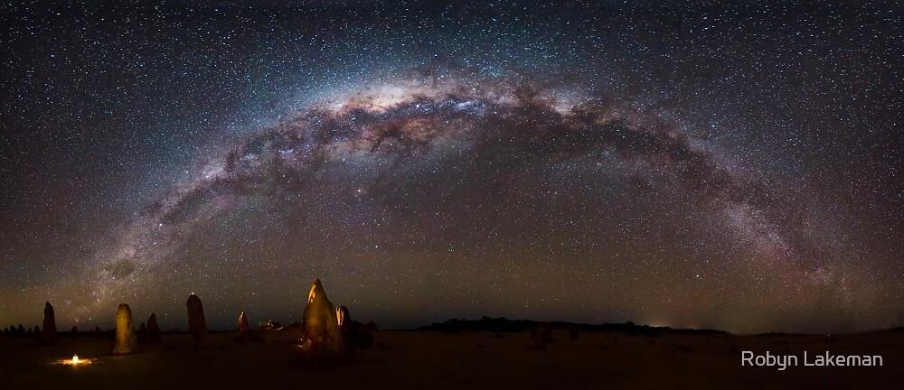 Pinnacles night panorama by Robyn Lakeman