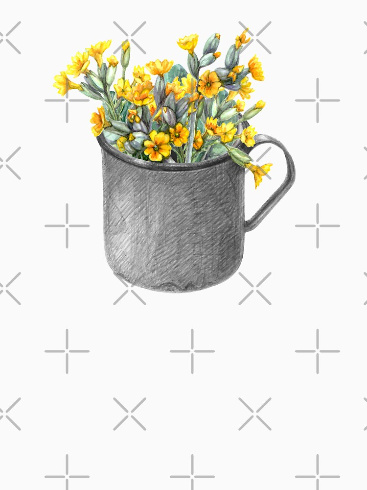 Mug with primulas by stasia-ch