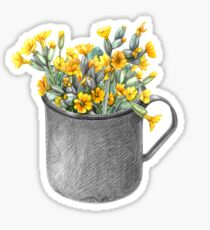 Mug with primulas Sticker