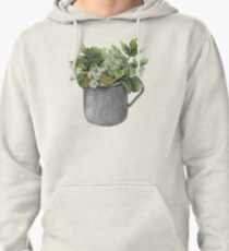 Mug with green forest growth Pullover Hoodie