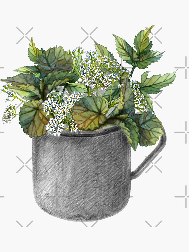 Mug with green forest growth by stasia-ch