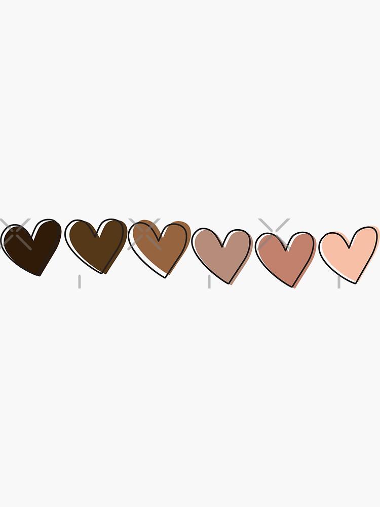 Cute Black&Brown Hearts, Black Owned by Elhafdaoui