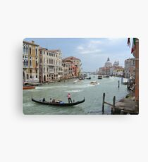 Grand Canal and Gondola Canvas Print