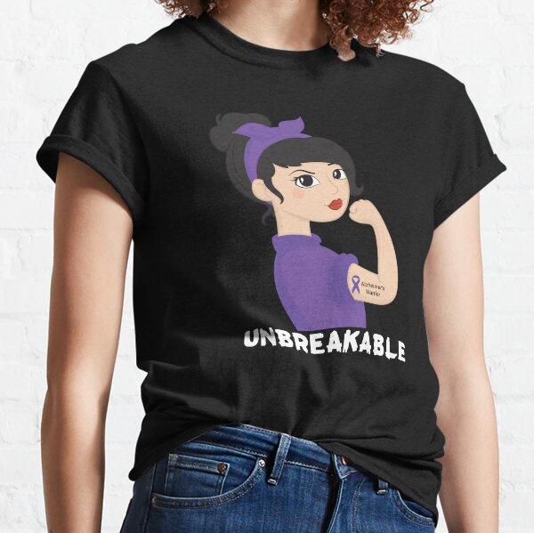Alzheimer Warrior  unbreakable women  Best idea Gift. Classic T-Shirt