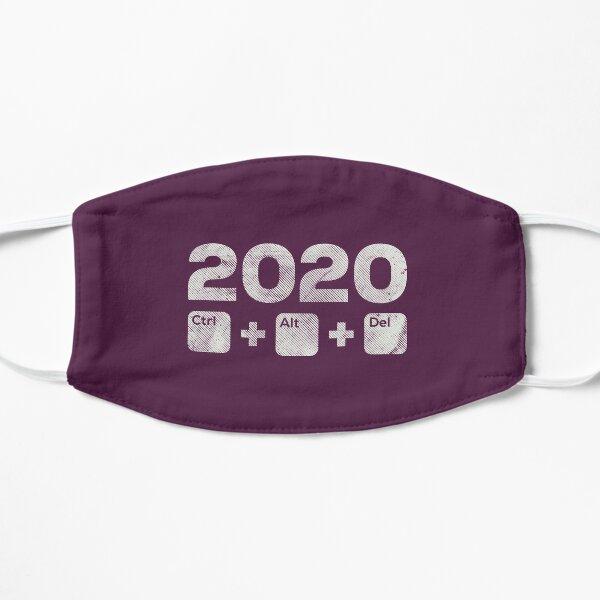 2020 Control Alt Delete - distressed version - Burgundy Mask