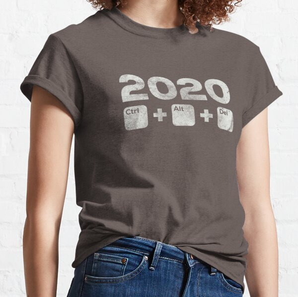 2020 Control Alt Delete - distressed version - Burgundy Classic T-Shirt